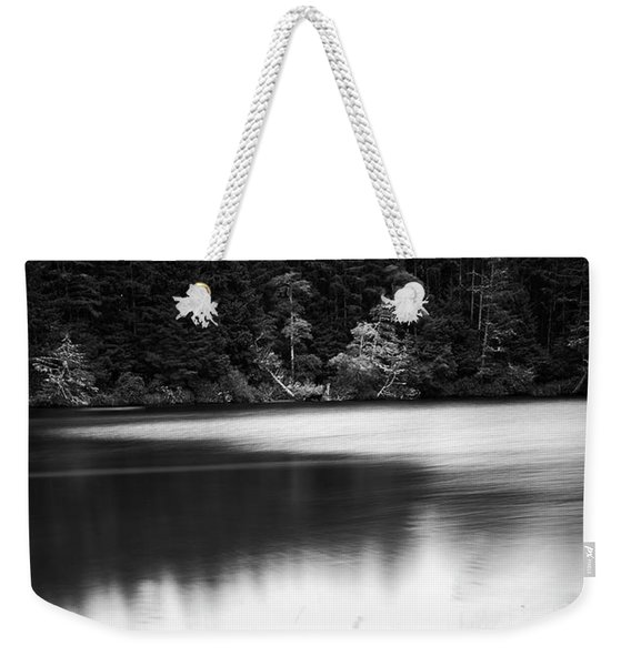 Weekender Tote Bag featuring the photograph Coffenbury Lake by Whitney Goodey