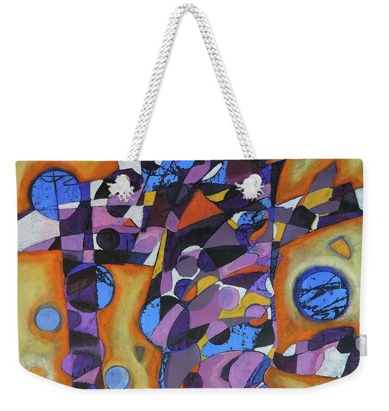 Weekender Tote Bag featuring the painting Cold Release by Mark Jordan