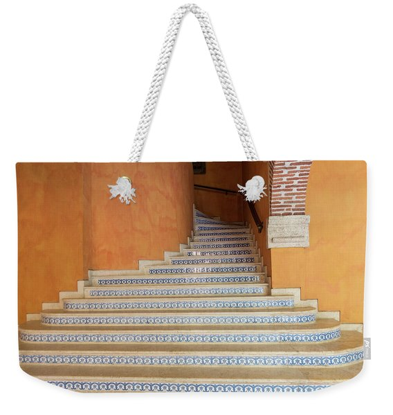 Weekender Tote Bag featuring the photograph Colonial Stairs by Juan Contreras