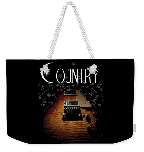 Color Country Music Guitar Notes Weekender Tote Bag