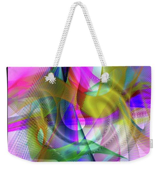 Weekender Tote Bag featuring the digital art Color Full by Visual Artist Frank Bonilla