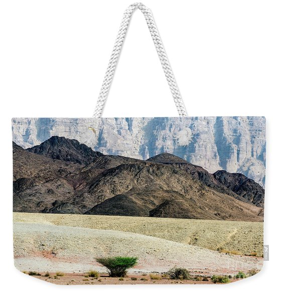 Weekender Tote Bag featuring the photograph Color Layers In The Desert by Arik Baltinester