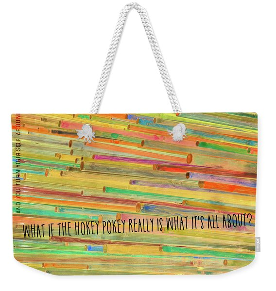 Weekender Tote Bag featuring the photograph Color Me Happy Quote by JAMART Photography