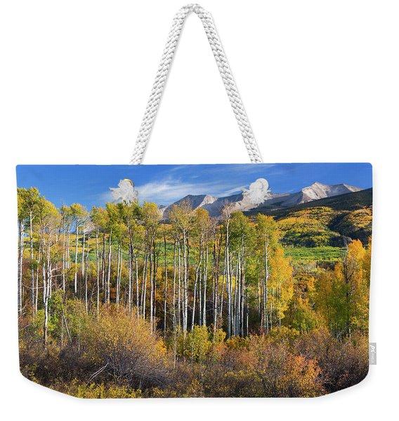 Colorado Autumn Aspens Weekender Tote Bag