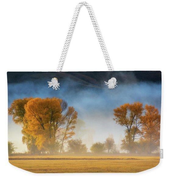 Colorado Autumn Fog Weekender Tote Bag