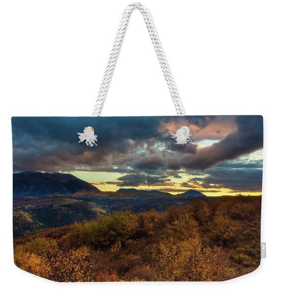 Weekender Tote Bag featuring the photograph Colorado Cloudscape by John De Bord