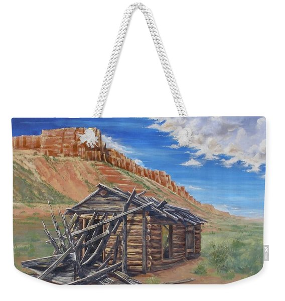 Colorado Prarie Cabin Weekender Tote Bag