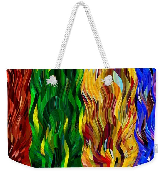 Colored Fire Weekender Tote Bag