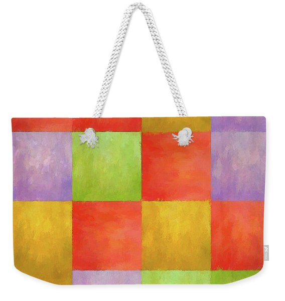 Colored Tiles Weekender Tote Bag