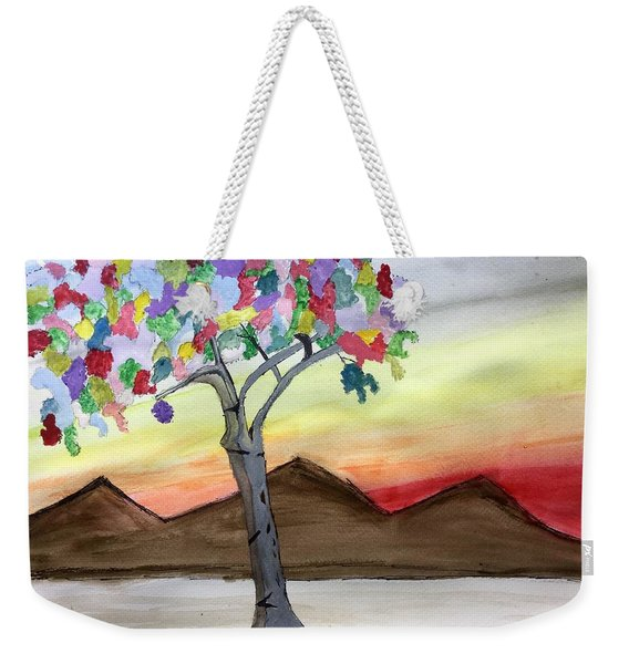 Colored Tree Weekender Tote Bag