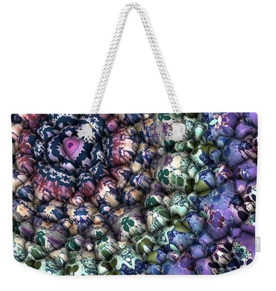 Colorful 3d Surface Weekender Tote Bag