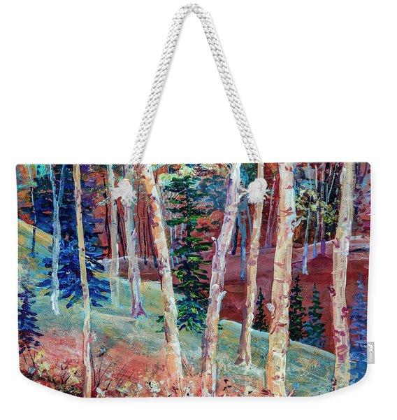 Colorful Aspen Weekender Tote Bag