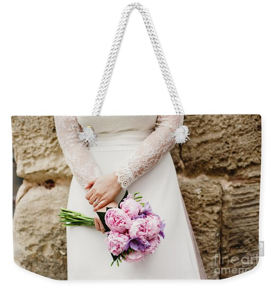 Colorful Bridal Bouquets With Flowers Weekender Tote Bag