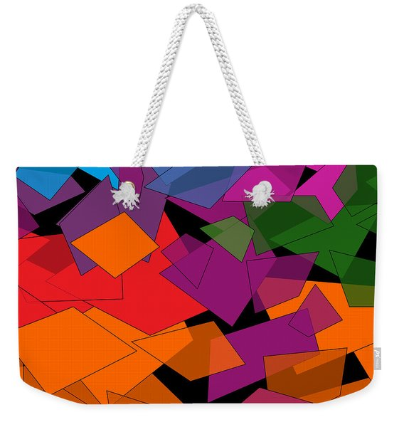Colorful Chaos Weekender Tote Bag