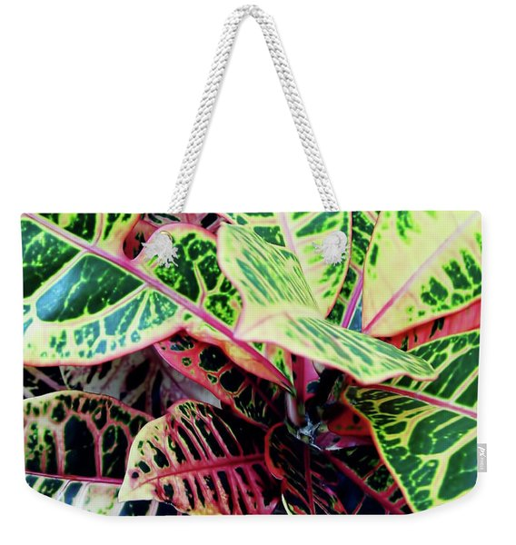 Colorful - Croton - Plant Weekender Tote Bag