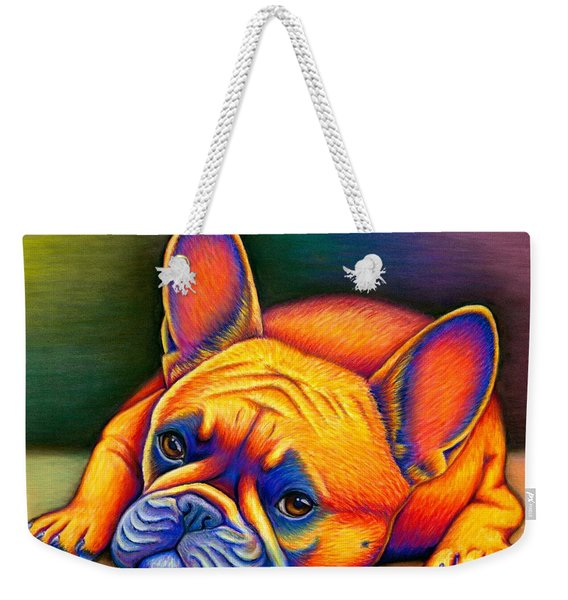 Daydreamer - Colorful French Bulldog Weekender Tote Bag