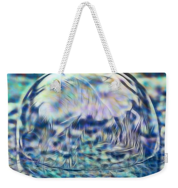 Colorful Frozen Bubble Weekender Tote Bag