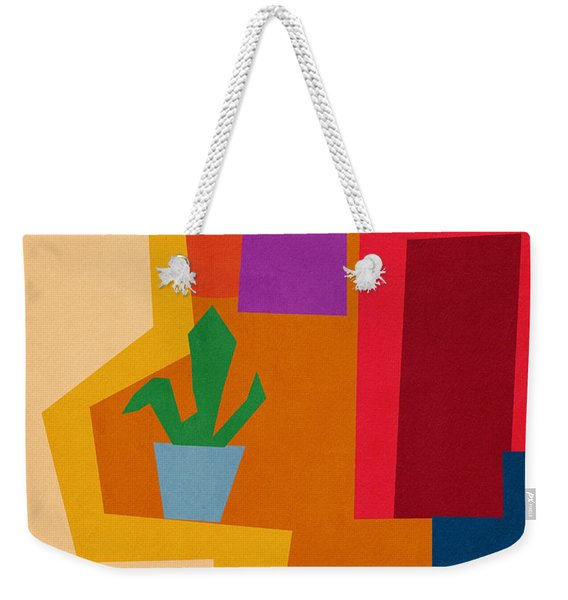 Colorful Geometric House 1- Art By Linda Woods Weekender Tote Bag
