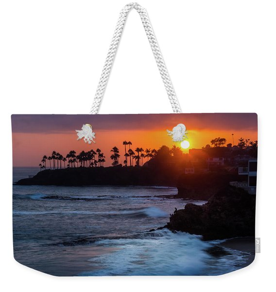 Weekender Tote Bag featuring the photograph Colorful Laguna Beach Sunset by Andy Konieczny