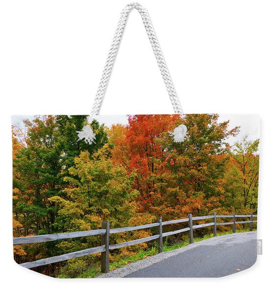 Colorful Lane Weekender Tote Bag