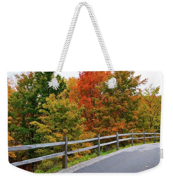 Colorful Lane Weekender Tote Bag
