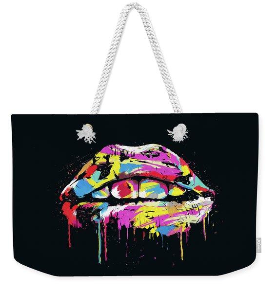 Colorful Lips Weekender Tote Bag