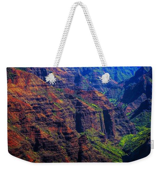 Colorful Mountains Of Kauai Weekender Tote Bag