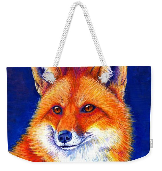 Colorful Red Fox Weekender Tote Bag