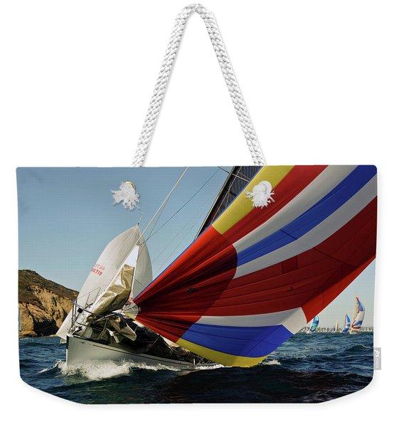 Colorful Spinnaker Run Weekender Tote Bag