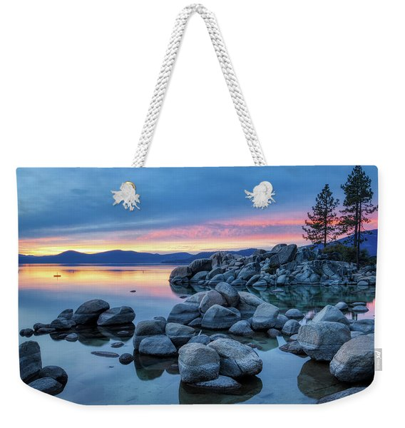 Colorful Sunset At Sand Harbor Weekender Tote Bag