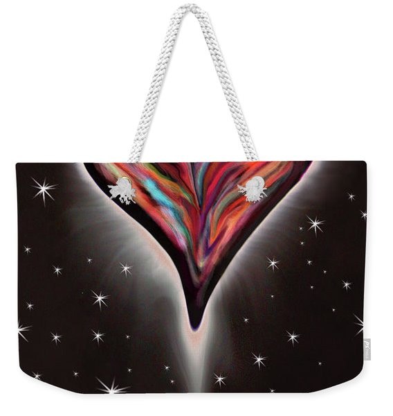 Colorful Total Eclipse Of The Heart 1 Weekender Tote Bag