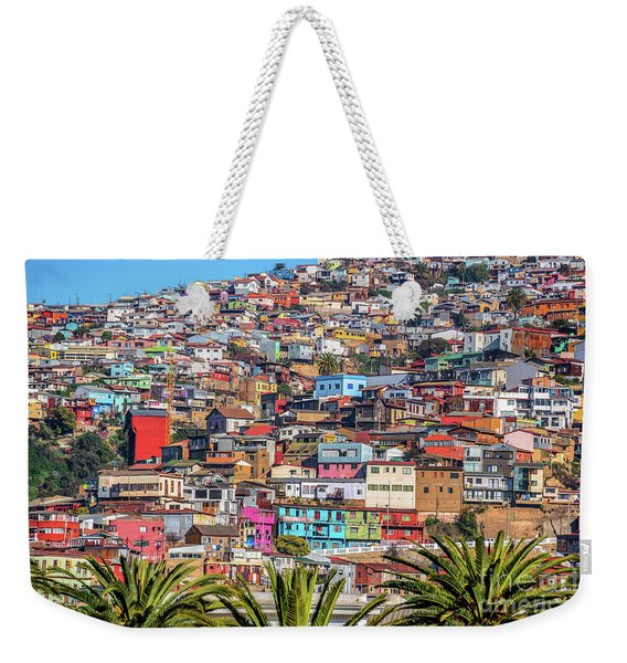 Colorful Walls Of Valparaiso Weekender Tote Bag