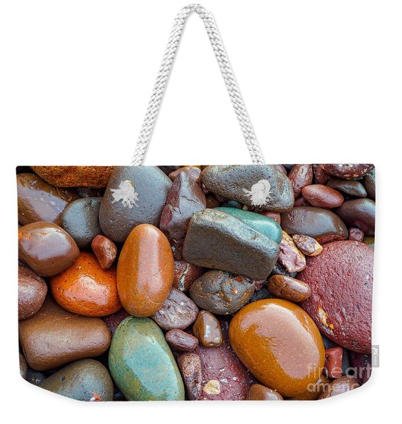 Colorful Wet Stones Weekender Tote Bag