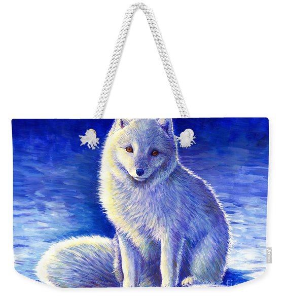 Peaceful Winter Arctic Fox Weekender Tote Bag
