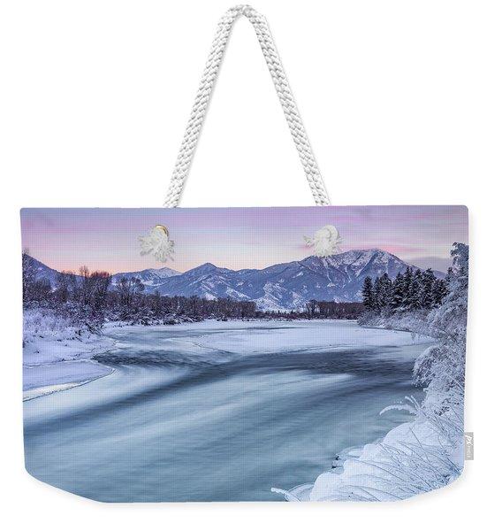 Colorful Winter Morning Weekender Tote Bag