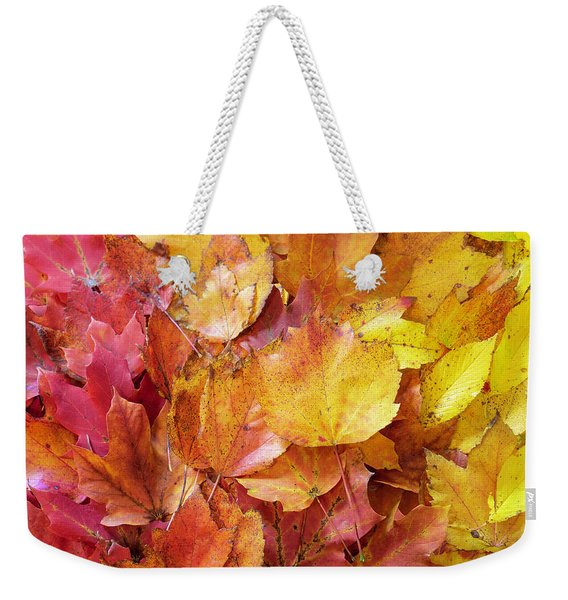 Colors Of Fall - Red To Yellow Weekender Tote Bag