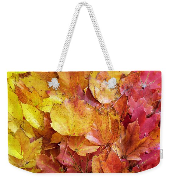 Colors Of Fall - Yellow To Red Weekender Tote Bag