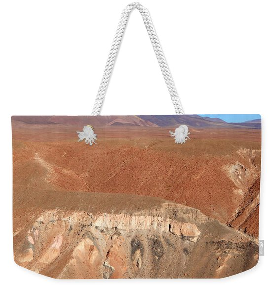 Colourful Canyon And Licancabur Volcano Chile Weekender Tote Bag