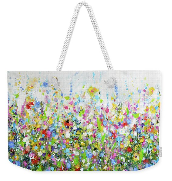 Colourful Meadow 40 Weekender Tote Bag
