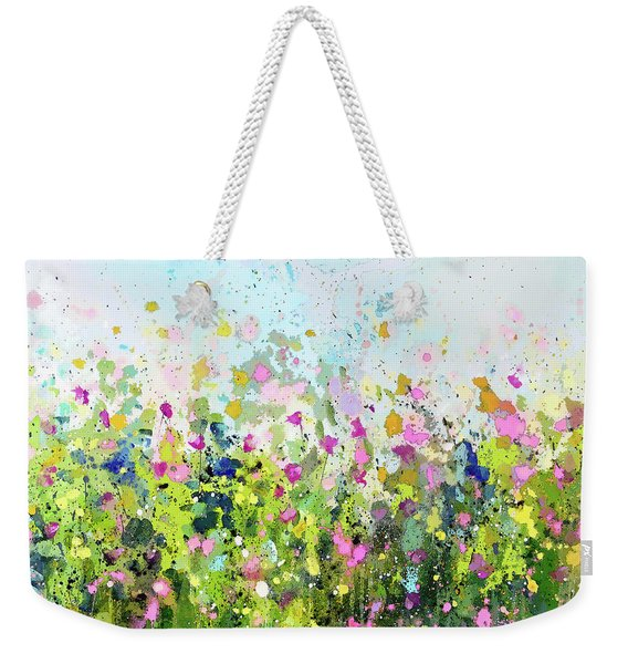 Colourful Meadow 41 Weekender Tote Bag