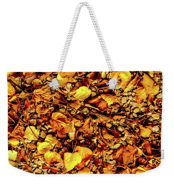 Colours. Autumn Gold Weekender Tote Bag