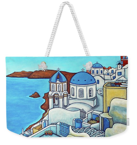 Colours Of Santorini Weekender Tote Bag