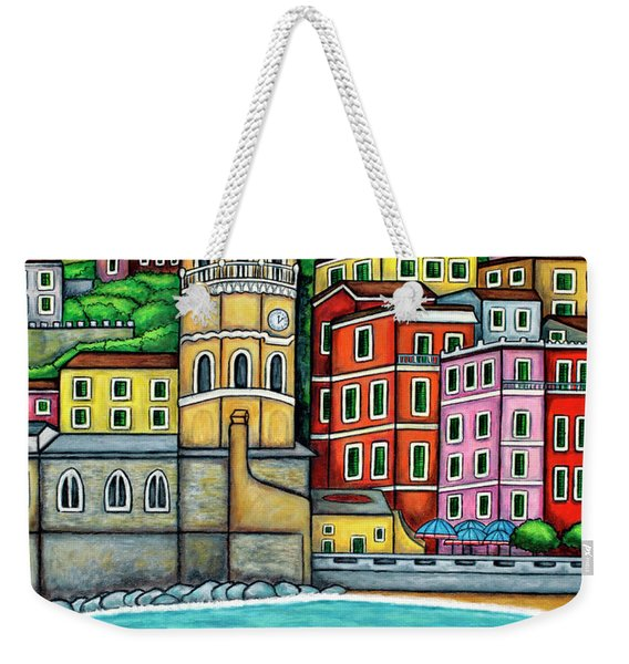 Colours Of Vernazza Weekender Tote Bag