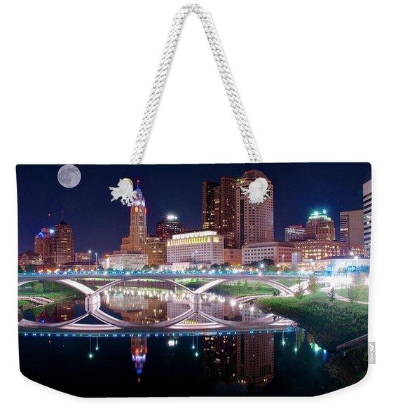 Columbus Ohio Full Moon Pano Weekender Tote Bag