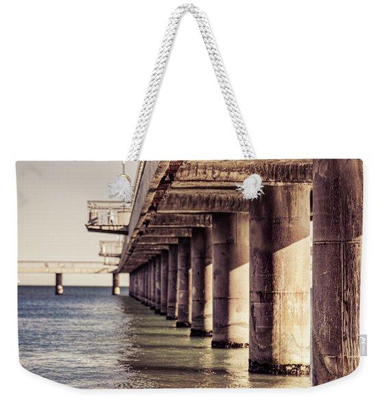 Columns Of Pier In Burgas Weekender Tote Bag