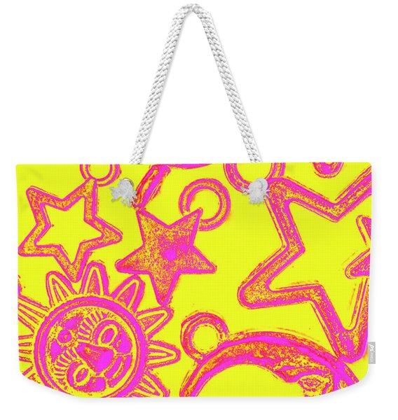 Comic Constellation Weekender Tote Bag