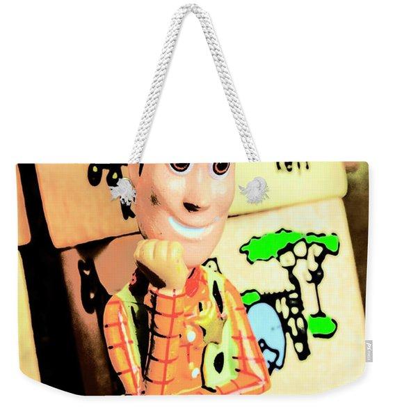 Comic Cowboy Weekender Tote Bag