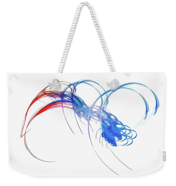Weekender Tote Bag featuring the digital art Coming For You Blue by Don Northup