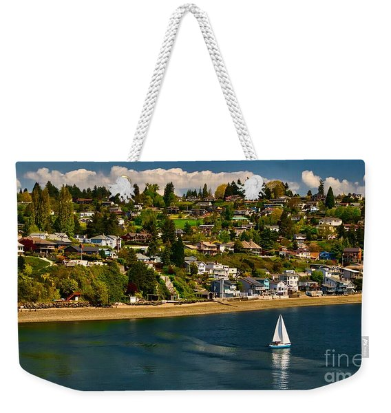 Commencement Bay,washington State Weekender Tote Bag