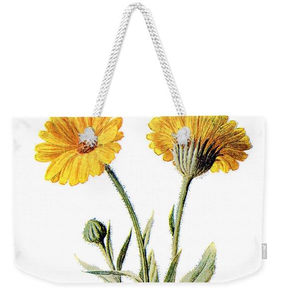 Common Marigold Flower Weekender Tote Bag